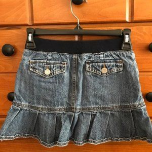 LIMITED TOO Girls Ruffled Jean Skirt Size 10